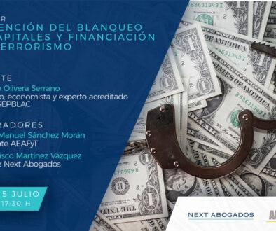 Webinar 'Prevención del blanqueo de capitales y financiación del terrorismo'